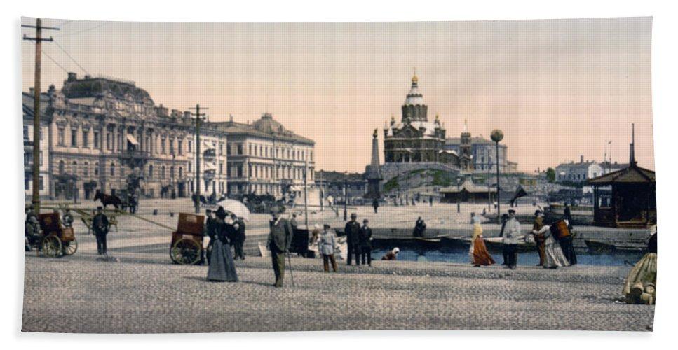 Helsinki Hand Towel featuring the photograph Helsinki Finland - Senate Square by Bode Stevenson