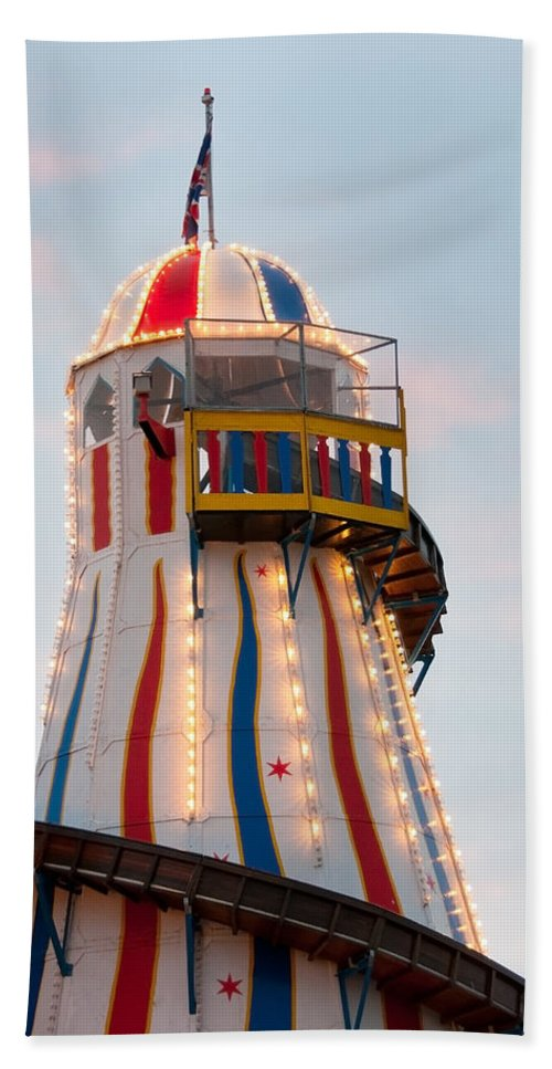 Carnival Bath Sheet featuring the photograph Helter Skelter by Beth Riser