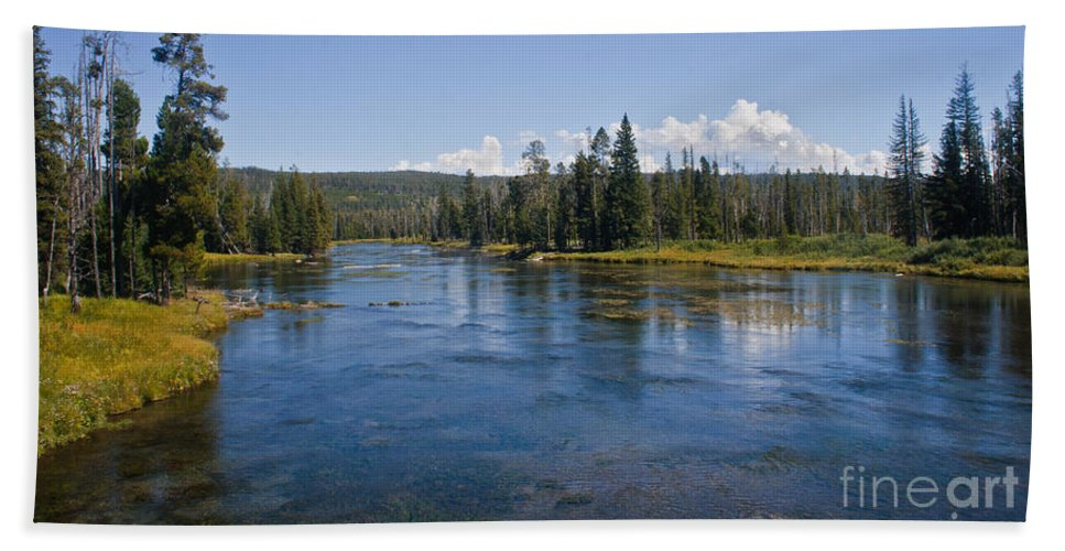 River Bath Sheet featuring the photograph Henry Fork Of The Snake River by Robert Bales