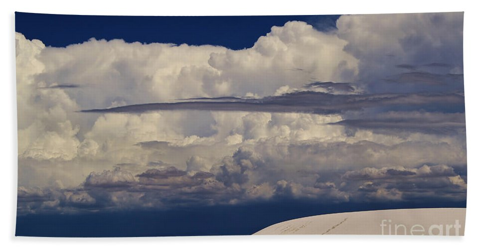 Roena King Bath Sheet featuring the photograph Hidden Mountains In The Shadows Of The Storm by Roena King