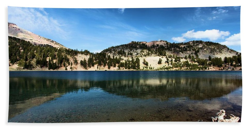 Lassen Volcanic National Park Bath Sheet featuring the photograph High Mountain Paradise by Adam Jewell
