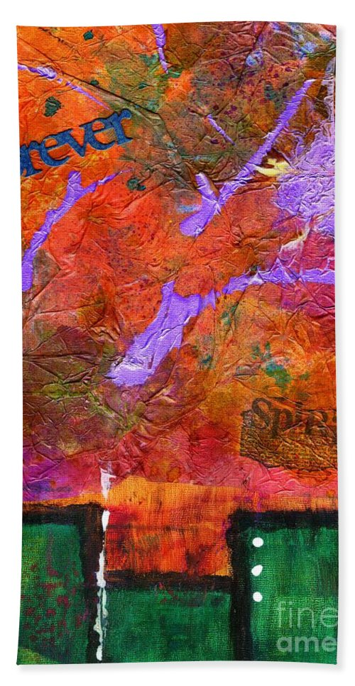 Spiritual Bath Sheet featuring the painting High Spirits II by Angela L Walker