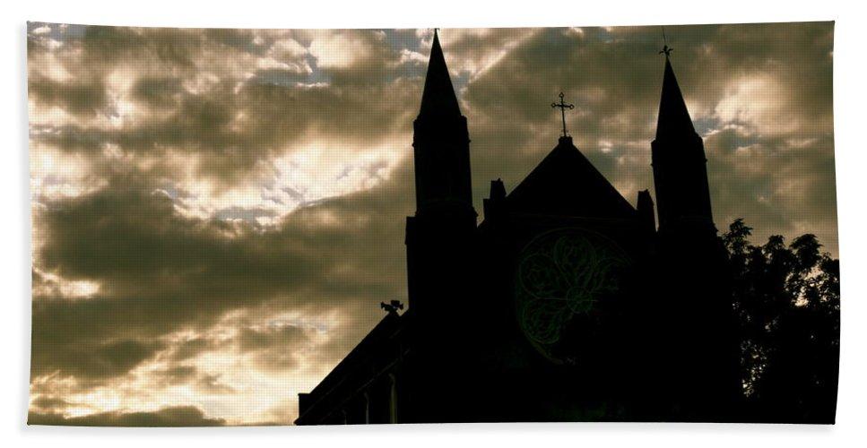 Church Bath Sheet featuring the photograph Higher Skies by Trish Hale