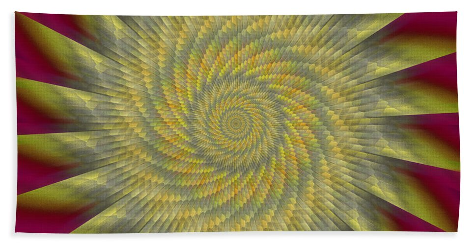 Pinwheel Hand Towel featuring the digital art Highspeed Pinwheel by Mark Greenberg