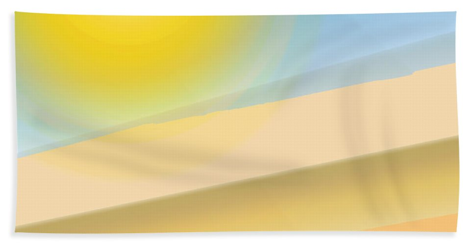 Abstract Bath Sheet featuring the digital art Hill Country by Ian MacDonald