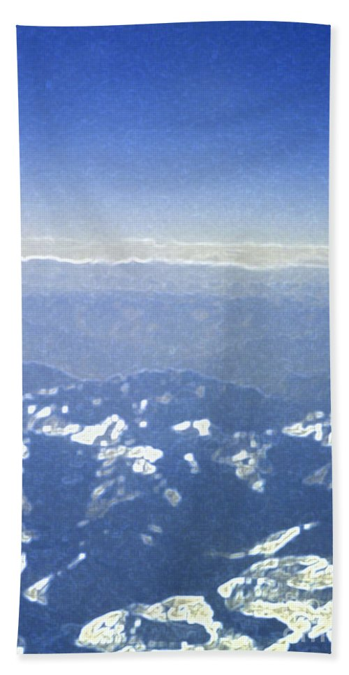 First Star Art By Jrr Hand Towel featuring the photograph Himalayas Blue by First Star Art