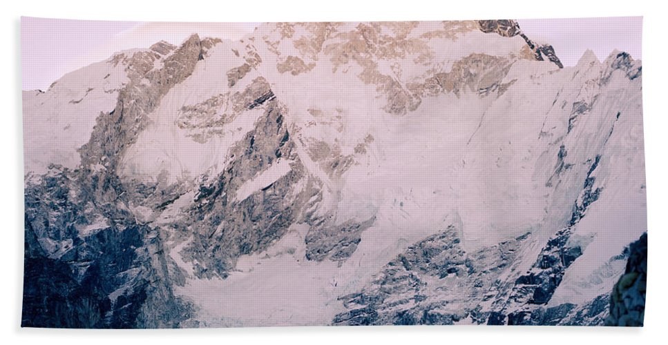 Himalaya Hand Towel featuring the photograph Himalayas In Nepal by Shaun Higson