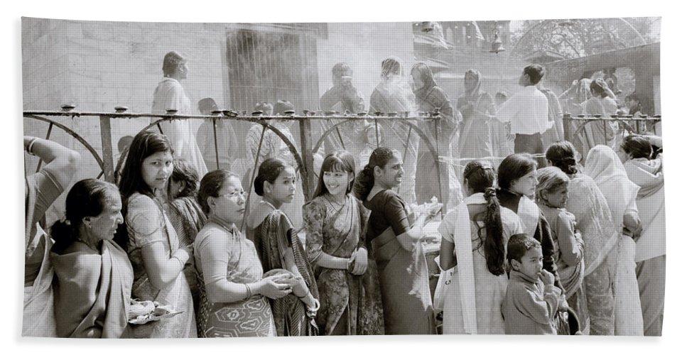 Nepali Hand Towel featuring the photograph Hindu Pilgrims by Shaun Higson