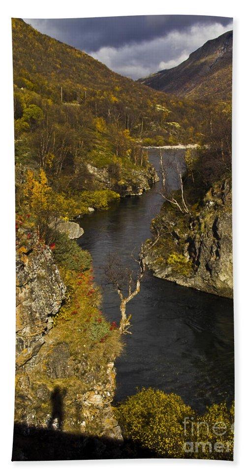 Heiko Bath Sheet featuring the photograph His Shadow by Heiko Koehrer-Wagner
