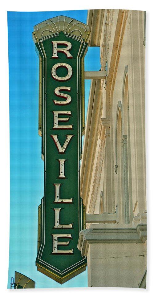 Historic Roseville California Bath Sheet featuring the photograph Historic Roseville California by Bill Owen