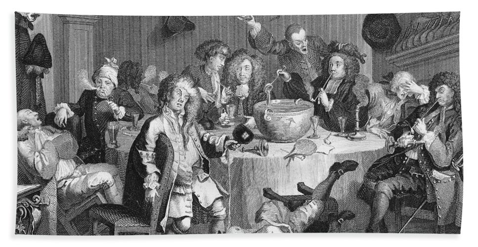 1732 Bath Sheet featuring the photograph Hogarth: Rakes Progress by Granger