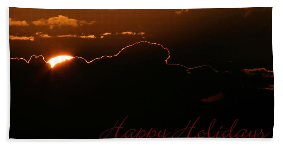Holiday Bath Sheet featuring the photograph Holiday Sunrise by Sabrina L Ryan