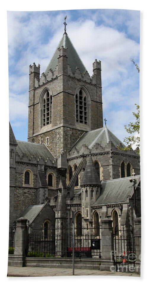 Cathedral Bath Sheet featuring the photograph Holy Trinity Cathedral Dublin by Christiane Schulze Art And Photography