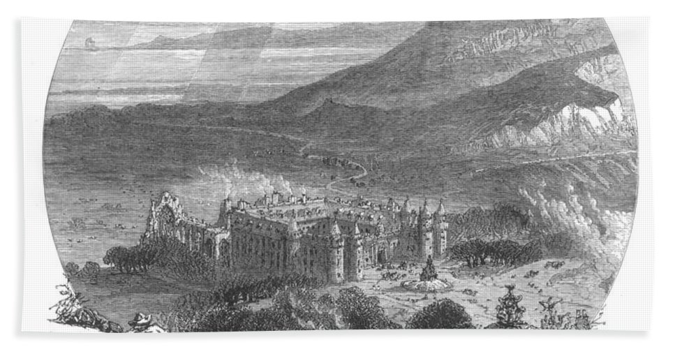 19th Century Bath Towel featuring the photograph Holyrood Palace by Granger
