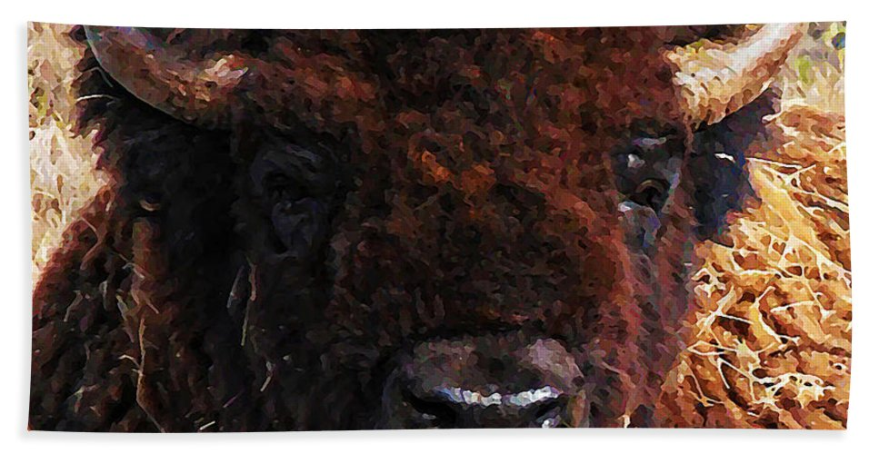 Home On The Range Hand Towel featuring the photograph Home On The Range by Bill Cannon