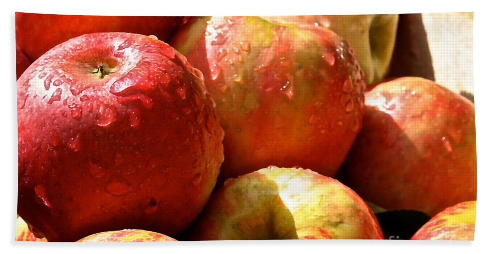 Landscape Hand Towel featuring the photograph Honey Crisp Collection by Susan Herber