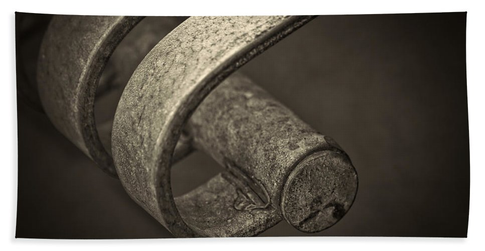 Curved Hand Towel featuring the photograph Hooked. by Clare Bambers