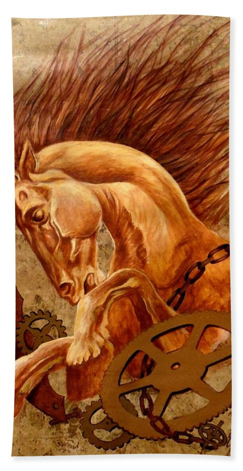 Horse Bath Sheet featuring the painting Horse Jewels by Lena Day