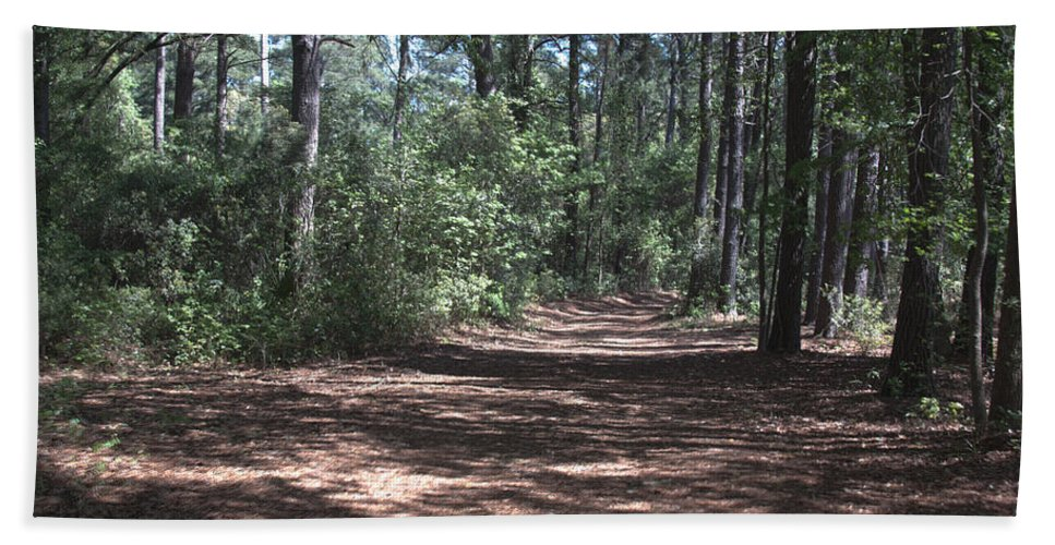 Woods Hand Towel featuring the photograph Horse Path by Jean Macaluso