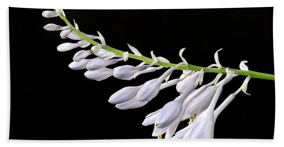 Hosta Bath Sheet featuring the photograph Hosta Flowers by Dave Mills