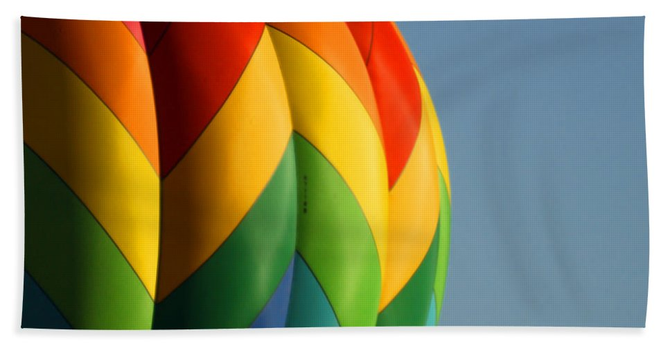 Balloons Hand Towel featuring the photograph Hot Air Balloon 3 by Ernie Echols