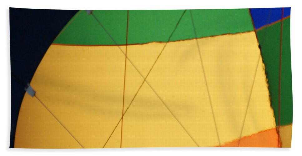 Balloons Hand Towel featuring the photograph Hot Air Balloon Rigging by Ernie Echols