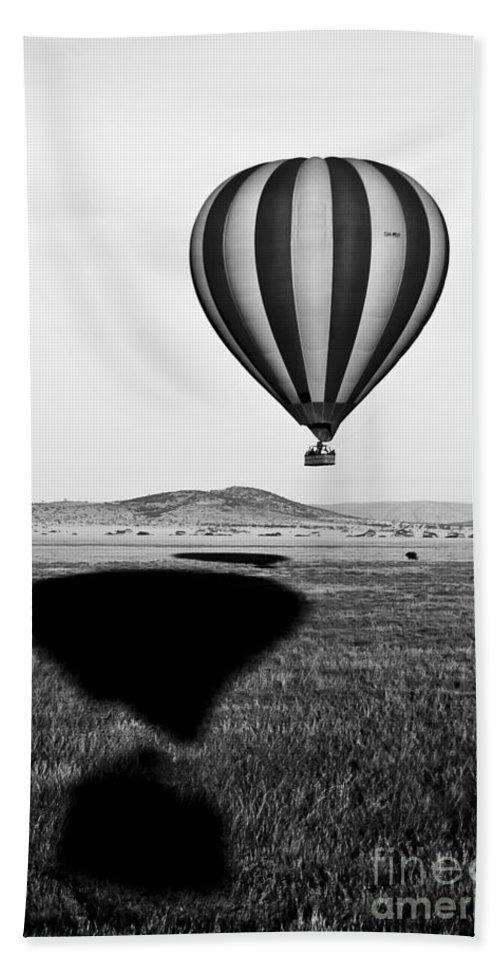 Africa Bath Sheet featuring the photograph Hot Air Balloon Shadows by Darcy Michaelchuk