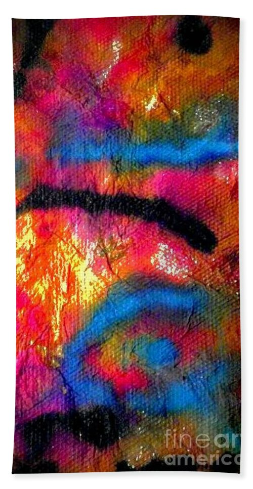 Acrylic Bath Sheet featuring the painting Hot Fun by Angela L Walker