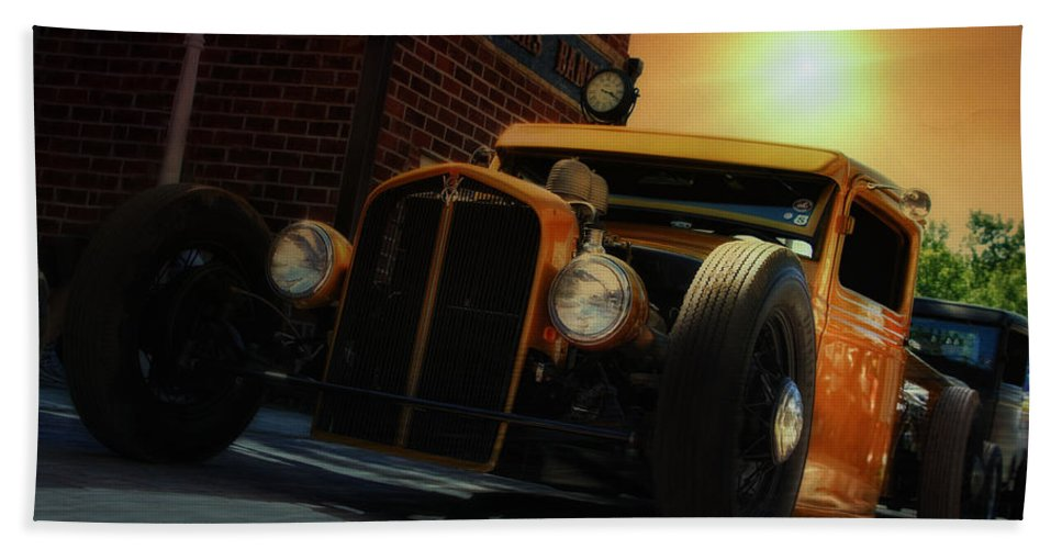Hot Rod Bath Sheet featuring the photograph Hot Roddin' by Joel Witmeyer