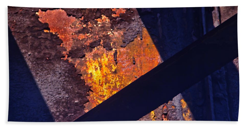 Structures Bath Sheet featuring the photograph Hot Rust by Roger Wedegis