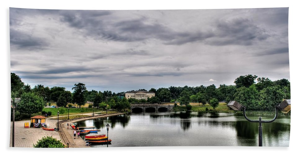 Hand Towel featuring the photograph Hoyt Lake Delaware Park 0001 by Michael Frank Jr
