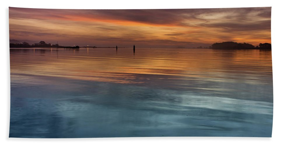 Seascape Bath Sheet featuring the photograph Humboldt Bay Dusk by Greg Nyquist