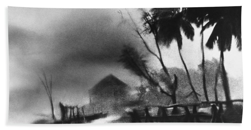 Weather Hand Towel featuring the photograph Hurricane In The Caribbean by Fritz Henle and Photo Researchers