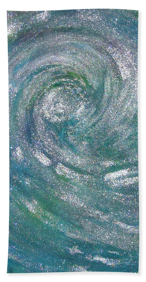 Hurricane Hand Towel featuring the painting Hurricane Of Light by Leanne Karlstrom
