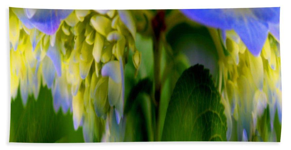 Flower Bath Sheet featuring the digital art Hydrangea Fantasy by Smilin Eyes Treasures
