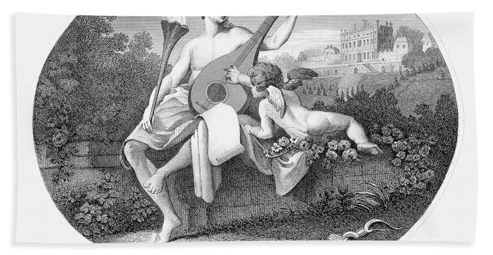 19th Century Hand Towel featuring the photograph Hymen And Cupid by Granger