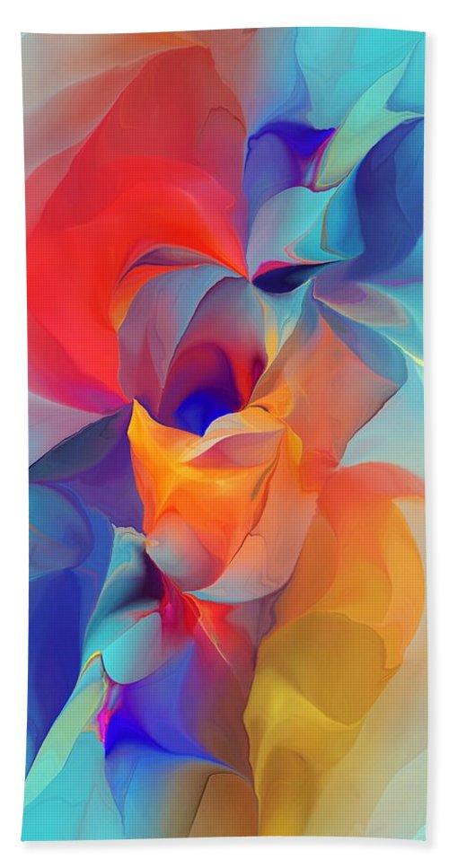 Fine Art Bath Towel featuring the digital art I Am So Glad by David Lane