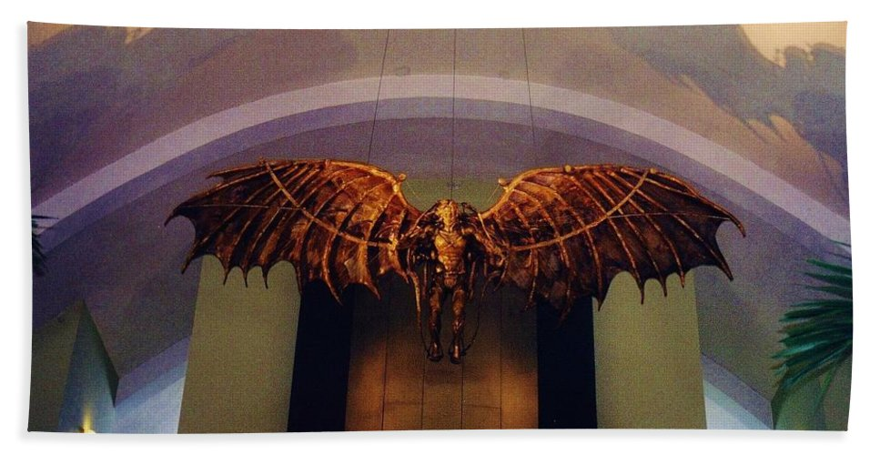 Louis Armstrong Airport Hand Towel featuring the photograph Icarus In The Louis Armstrong International Airport In New Orleans by John Malone