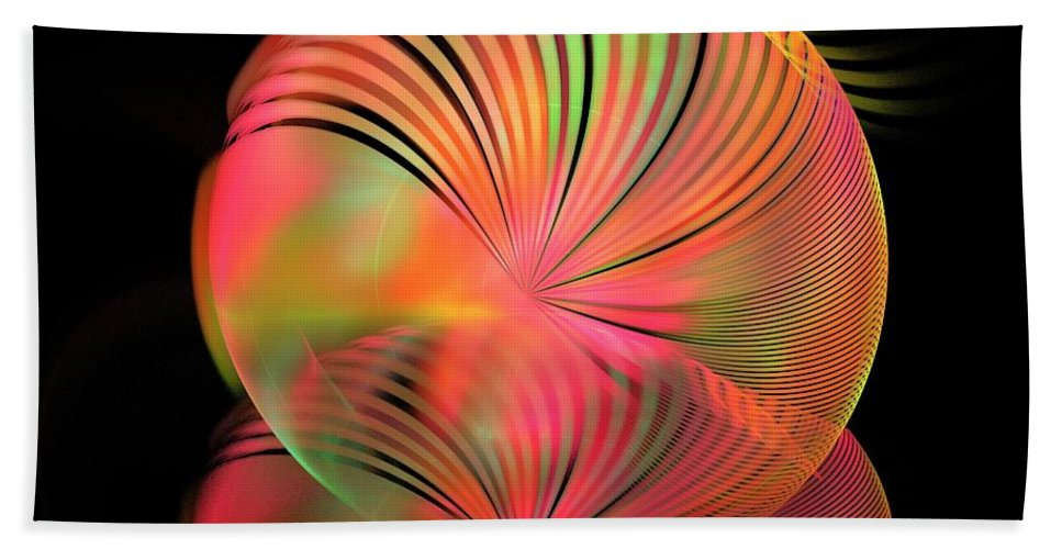 Apophysis Bath Sheet featuring the digital art Ice Plant by Kim Sy Ok