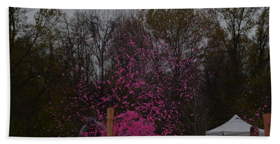 Tough Hand Towel featuring the photograph Icee Pink Cold Water Challenge by Randy J Heath