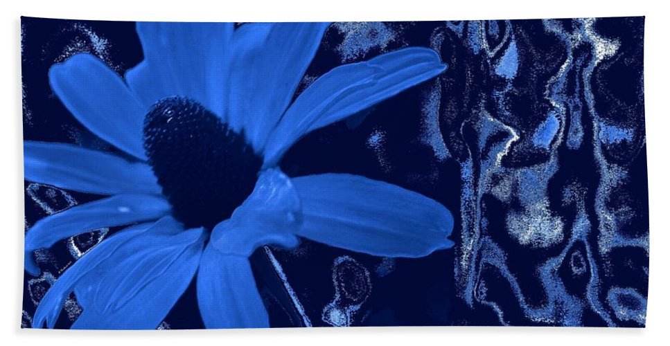 Coneflower Bath Sheet featuring the photograph I'm So Blue by Betty Northcutt
