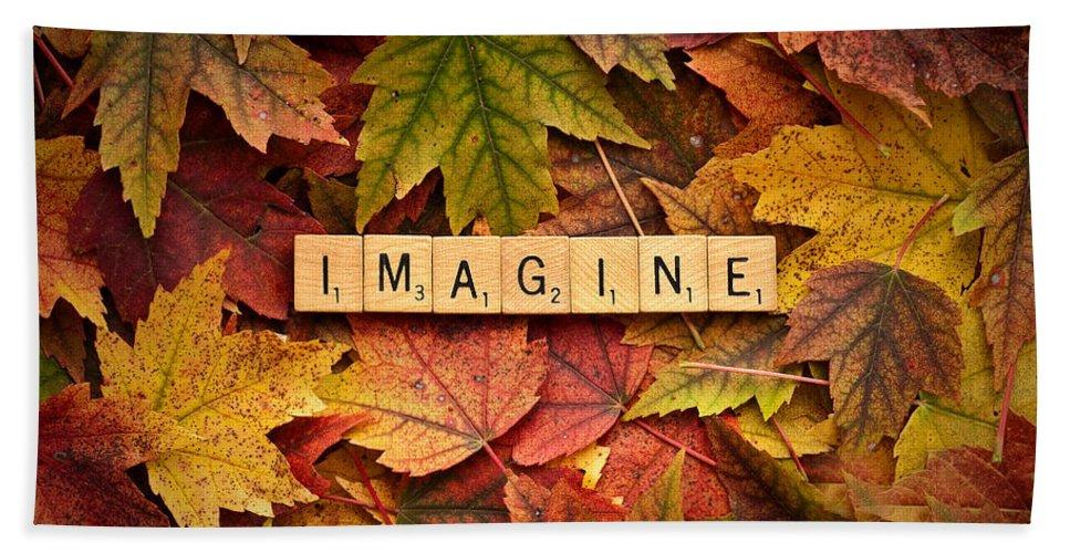 Daniel J. Kmiecik Hand Towel featuring the photograph Imagine-autumn by Onyonet Photo Studios