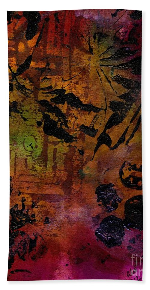 Bath Sheet featuring the mixed media Imagining The Orient II by Angela L Walker