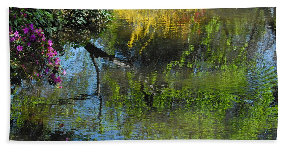 Spring Bath Sheet featuring the photograph Impressions Of Spring by Lynn Bauer