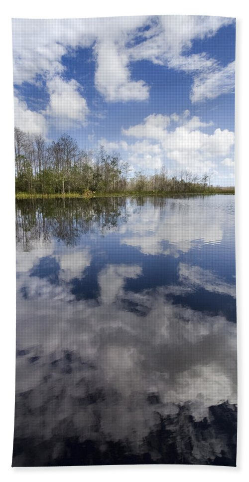 Clouds Bath Sheet featuring the photograph In A Dream by Debra and Dave Vanderlaan