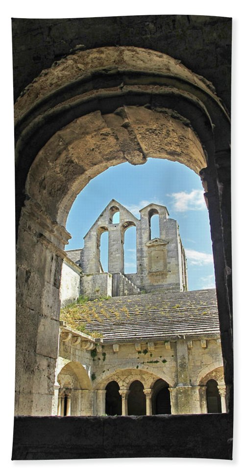 Monastery Hand Towel featuring the photograph In A Monastery by Dave Mills