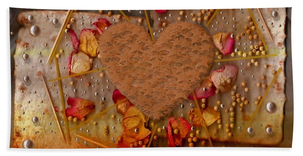 Cookie Bath Sheet featuring the mixed media In Cookie And Bread Style by Pepita Selles