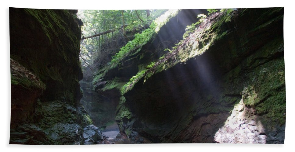 Rocks Hand Towel featuring the photograph In The Cleft Of The Rock by David Arment