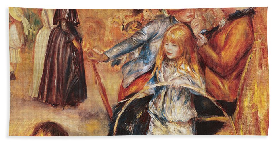 In The Luxembourg Gardens Bath Sheet featuring the painting In The Luxembourg Gardens by Pierre Auguste Renoir