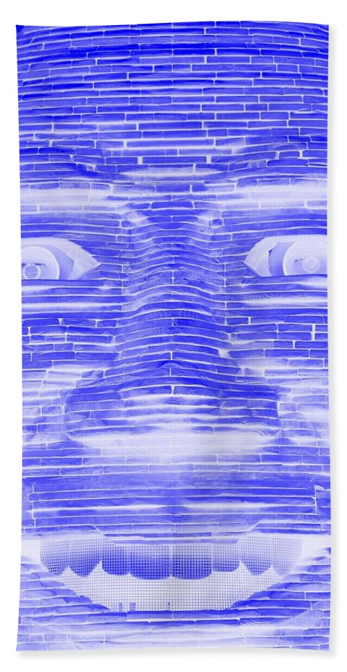 Architecture Bath Sheet featuring the photograph In Your Face In Negative Blue by Rob Hans